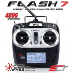 Hitec Radiocomando Flash 7 Tx con 2 RX Optima 7 Mode 1 Dry (art. 170259)