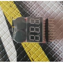 Siva Toys Li-po tester con sensore e allarme sonoro (art. 15008)