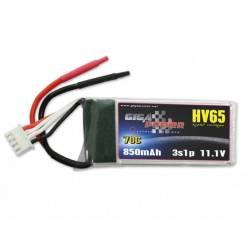 GigaPower batteria Li-Po 11,1V 850mAh 70C 3S (art. GP850HV3S)