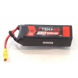 Dymond Batteria Li-Po F-Tek+ 5000mAh 6S 22,2V 40C connettore EC5 indicatore LED (art. HSF03199107)