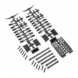 Axial Set di collegamento anteriore in alluminio per SCX10 II AX31465 (art. AXIC1465)