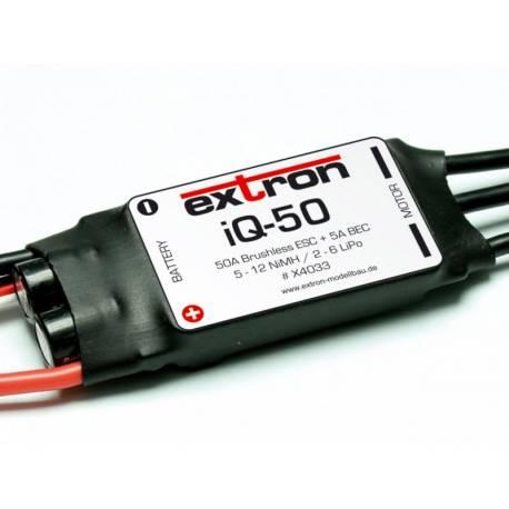 Extron Regolatore elettronico per motori Brushless ESC iQ-50 50A 2-6 Lipo BEC (art. X4033)