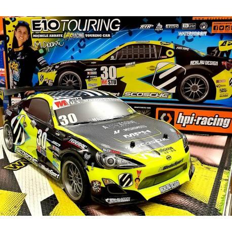 Hpi Automodello E10 Michele Abbate GrrRacing Touring Car 1/10 EP 4WD RTR (art. HP120090)
