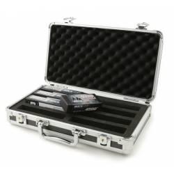 Robitronic Valigetta in alluminio imbottita per trasporto 8 batterie 345x190x80mm (art. R14025)