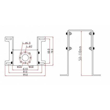 Extron Supporto per motore Brushless Grande (art. C2272)