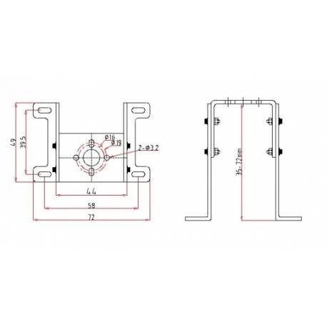 Extron Supporto per motore Brushless Piccolo (art. C2570)