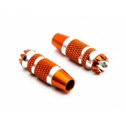Spektrum Terminali Stick in Metallo da 24mm Orange 2 pezzi per DX6G2, DX7G2 (art. SPMA4005)