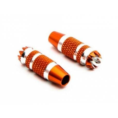 Spektrum Terminali Stick in Metallo da 24mm Orange 2 pezzi per DX6G2, DX7G2 (art. SPMA4005)