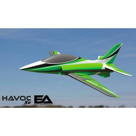 E-flite Havoc Xe 80mm EDF Sport Jet BNF Basic con AS3X e SAFE Select (art. EFL7550)