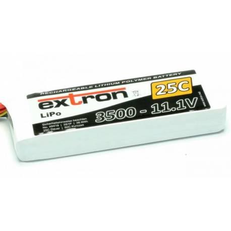 Extron Batteria Li-po X2 11,1V 3500mAh 25-50C connettore XT90 (art. X6419)