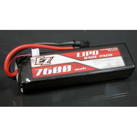 EZ Power Batteria Li-po Semi-Hardcase 7,4V 7600mAh 40C connettore Traxxas (art. EZP7600/2TXX)