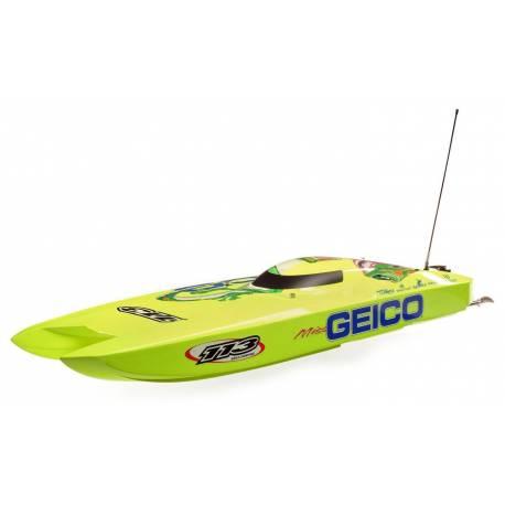 "ProBoat Catamarano Miss GEICO Zelos 36"" Twin Brushless (art. PRB08040)"