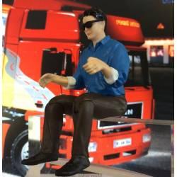 Robbe Pilota figura maschile seduto altezza 90mm scala 1/14 (art. 5207)