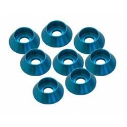 Ultimate Racing Rondelle coniche M3 alluminio blu testa cilindrica 8 pzz (art. UR1521A)