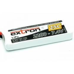 Extron Batteria Li-po X2 7,4V 2200mAh 25-50C connettore XT60 (art. X6412)