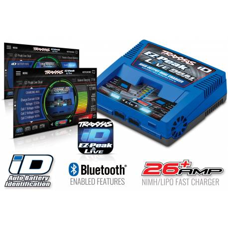 Traxxas Caricabatterie EZ Peak Live Dual ID Bluetooth 16Amp Ni-Mh / Li-Po con ID technology (art. TXX2973G)