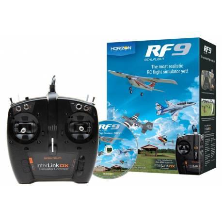 Horizon Hobby Simulatore di volo RealFlight RF9 con Spektrum InterLink DX Controller (art. RFL1100)