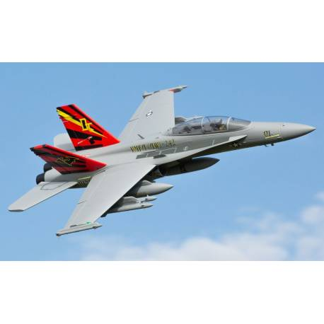 E-flite F-18 Hornet 80mm EDF BNF Basic con AS3X e SAFE Select (art. EFL3950)