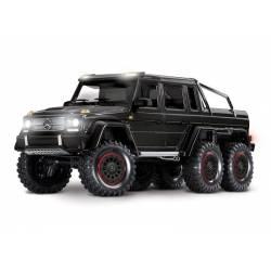 Traxxas Automodello TRX-6 Mercedes-Benz G 63 AMG 6x6 Trail Crawler con Kit Luci Nero (art. TXX88096-4-BLK)