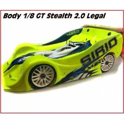 SP Racing Carrozzeria Stealth 2.0 Legal 1/8 Rally Game GT trasparente da competizione (art. SPBD00600-1)