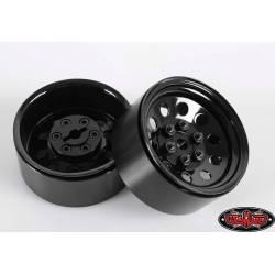 """RC4WD Set quattro cerchi Pro10 1.9"""" Acciaio stampato Beadlock Wheel colore Nero (art. RC4WD-Z-W0074)"""