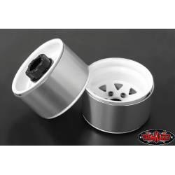 "RC4WD Set quattro cerchi 5 Lug Deep Dish Wagon 1.9"" Acciaio stampato Beadlock Wheel colore Bianco (art. RC4WD-Z-W0242)"