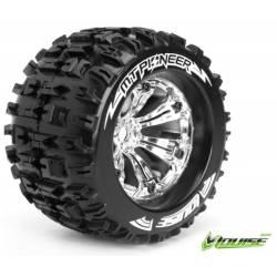 """Coppia gomme 1/8 Monster Truck MT-PIONEER 3,8"""" per E-Revo e Summit (art. LR-T3218CH)"""