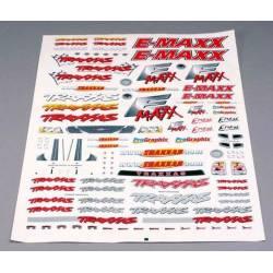 Traxxas Foglio adesivi 420x270mm per automodello E-Maxx (art. TXX3913)