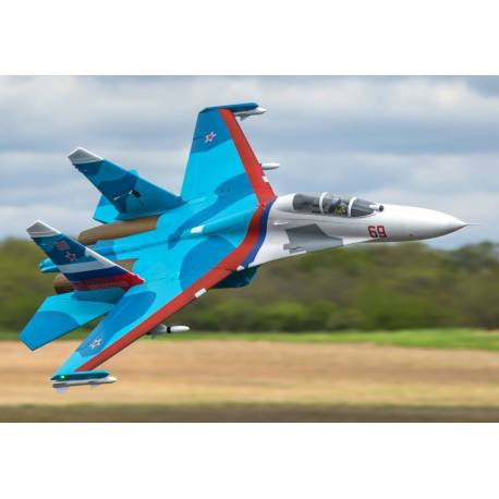 E-flite Sukhoi SU-30 Twin Jet 70mm EDF BNF Basic con AS3X e SAFE Select (art. EFL01050)