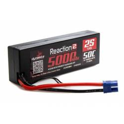 Dynamite Batteria Reaction 2.0 Li-po 7,4V 5000mAh 2S 50C Hardcase EC3 (art. DYNB5025H3)