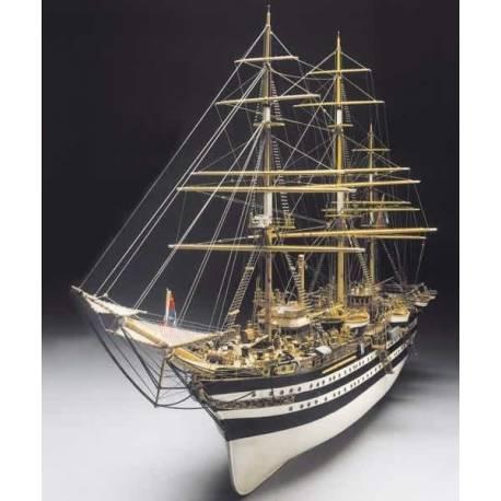 Mantua Model Amerigo Vespucci lunghezza 1250mm scala 1/84 Kit di montaggio (art. 741)