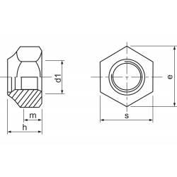 Jamara Dadi autobloccanti DIN 985/ 6 M2 zincato forma bassa inserto poliammide 10 pezzi (art. 177439)