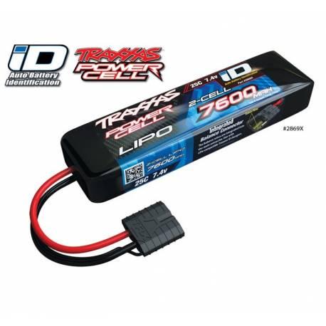 Traxxas Batteria Li-po 7,4V 7600mAh 25C 2S connettore Traxxas Power Cell iD (art. TXX2869X)