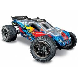 Traxxas Automodello Rustler VXL Stadium Truck 4WD 1/10 Brushless TSM RED (art. TXX67076-4)