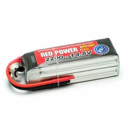 Pichler Batteria Li-po 14,8V 2200mAh RED POWER SLP 25C (art. C9410)