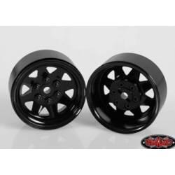 """RC4WD Set quattro cerchi 6 Lug Wagon 1.9"""" Acciaio stampato Beadlock Wheel colore Nero (art. RC4WD-Z-W0130)"""