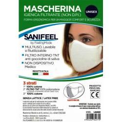 Feeling Mode Mascherina igienica filtrante (non D.P.I) forma ergonomica per adulto (art. SF03LARGE)