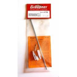 Graupner Set asta di comando con bacchette M2, forcella e sgancio rapido (art. 226)