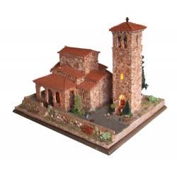 Cuit Chiesa di S.María de LebeñaScala HO dimensioni 45x28x23 kit di montaggio (art. CU3626)