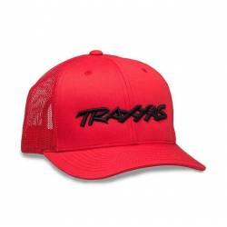 Traxxas Cappellino Rosso con logo ricamato Nero (art. TXX1182-RBL)