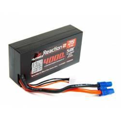 Dynamite Batteria Reaction 2.0 Li-po 7,4V 4000mAh 2S 50C Shorty Hardcase EC3 (art. DYNB402596H3)