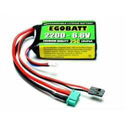 Pichler Batteria Li-Fe EGOBATT 2200mAh 6,6V 25C 2 celle attacco JR e MPX (art. C8350)