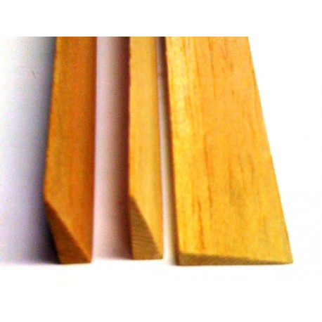 Mantua Model Bordo d'uscita triangolare Balsa 10x45x1000mm (art. 85907)
