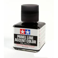 Tamiya Vernice smaltata Panel Accent Line Black Nero 40ml (art. TA87131)