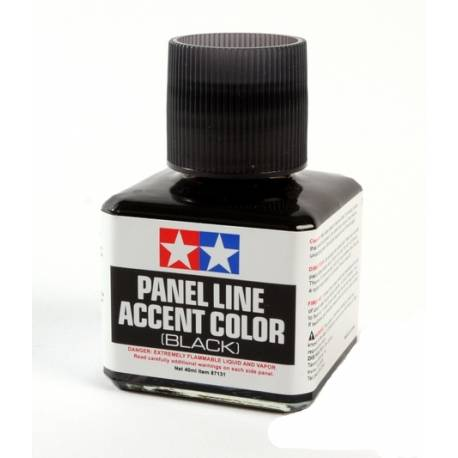 Tamiya Vernice smaltata Panel Accent Line Black Nero 40ml (art. TA87131)