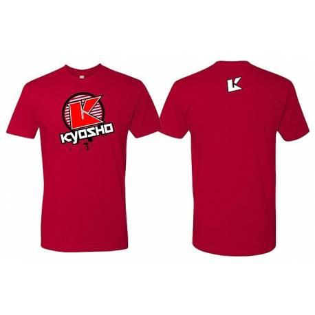 Kyosho T-Shirt K-Circle 2.0 Rossa Taglia Extra Large (art. 88008XL)