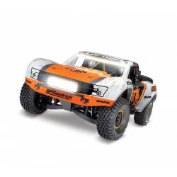 Traxxas Automodello Unlimited Desert Racer Fox Edition 4WD Race Truck con luci LED (art. TXX85086-4-FOX)