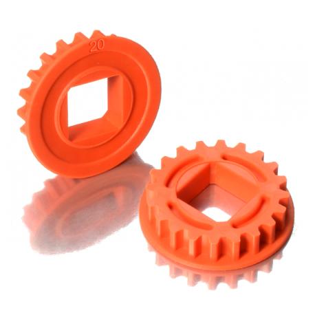 Xray Composite Fixed Pulley 20T Graphite T4 2020 2 pezzi Orange (art. 305578-O)