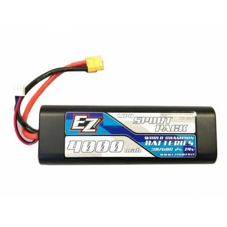 EZpower Batteria Li-po 7,4V 4000mAh 30/60C connettore XT60 (art. EZP4000/2-XT60)