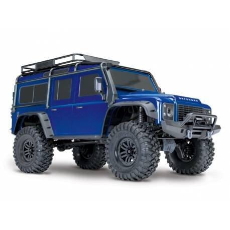 Traxxas Automodello Land Rover Defender TRX-4 Trail Crawler carrozzeria Blu (art. TXX82056-4-BLUE)